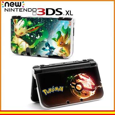Funda Protector Nintendo New 3DS XL Carcasa Dibujos Pokémon Poké Ball Leafeon