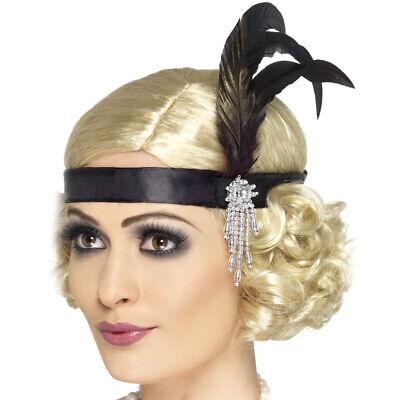 20s Schwarze Feder Kopfbedeckung 1920s Kostüm - Schwarzes Flapper Kostüm Kopfbedeckung