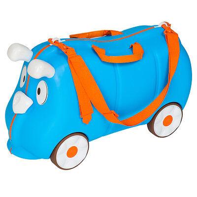 Kinder Hartschalen Koffer Ziehkoffer Rutscher Kinderkoffer Reisekoffer blau