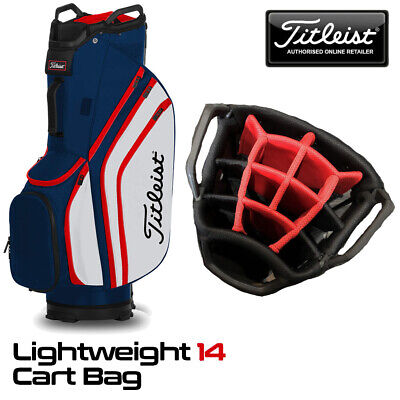 Titleist Lightweight 14-WAY Golf Cart Bag Navy/White/Red - NEW! 2020
