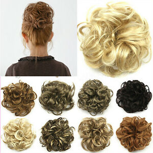Women-Ladies-New-Pony-Tail-Hair-Extension-Bun-Hairpiece-Scrunchie-DF