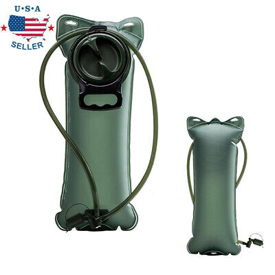 2L Bladder Water Bag Hydration Backpack System Survival Pack Camping Hiking -