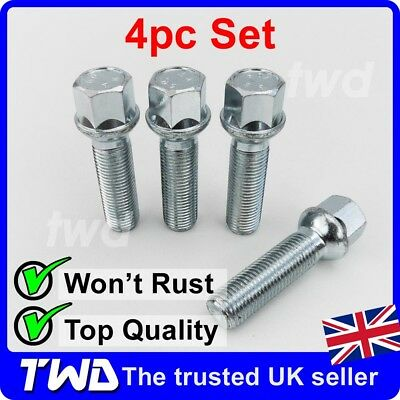 Alloy Wheel Bolts Black W639 03-14 20 14x1.5 Nuts for Mercedes Vito
