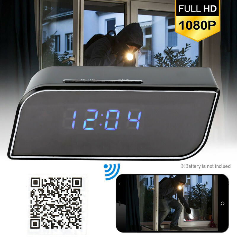 Spy Camera Clock WiFi Hidden Wireless Night Vision Security