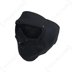 SWISS EYE BLACK NEOPRENE FACE MASK - TINTED LENS - Airsoft Skiing Full Face