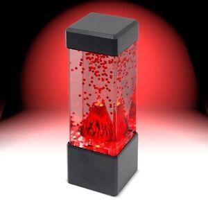 red lava erupting mini volcano led lamp mood night light ebay. Black Bedroom Furniture Sets. Home Design Ideas