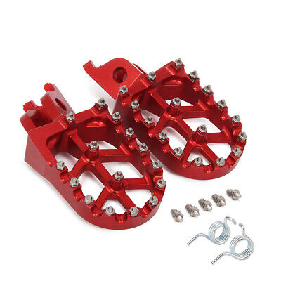Billet MX Wide Foot Pegs Pedals Rests For Honda CR125 CR250 CRF250R/X CRF450R