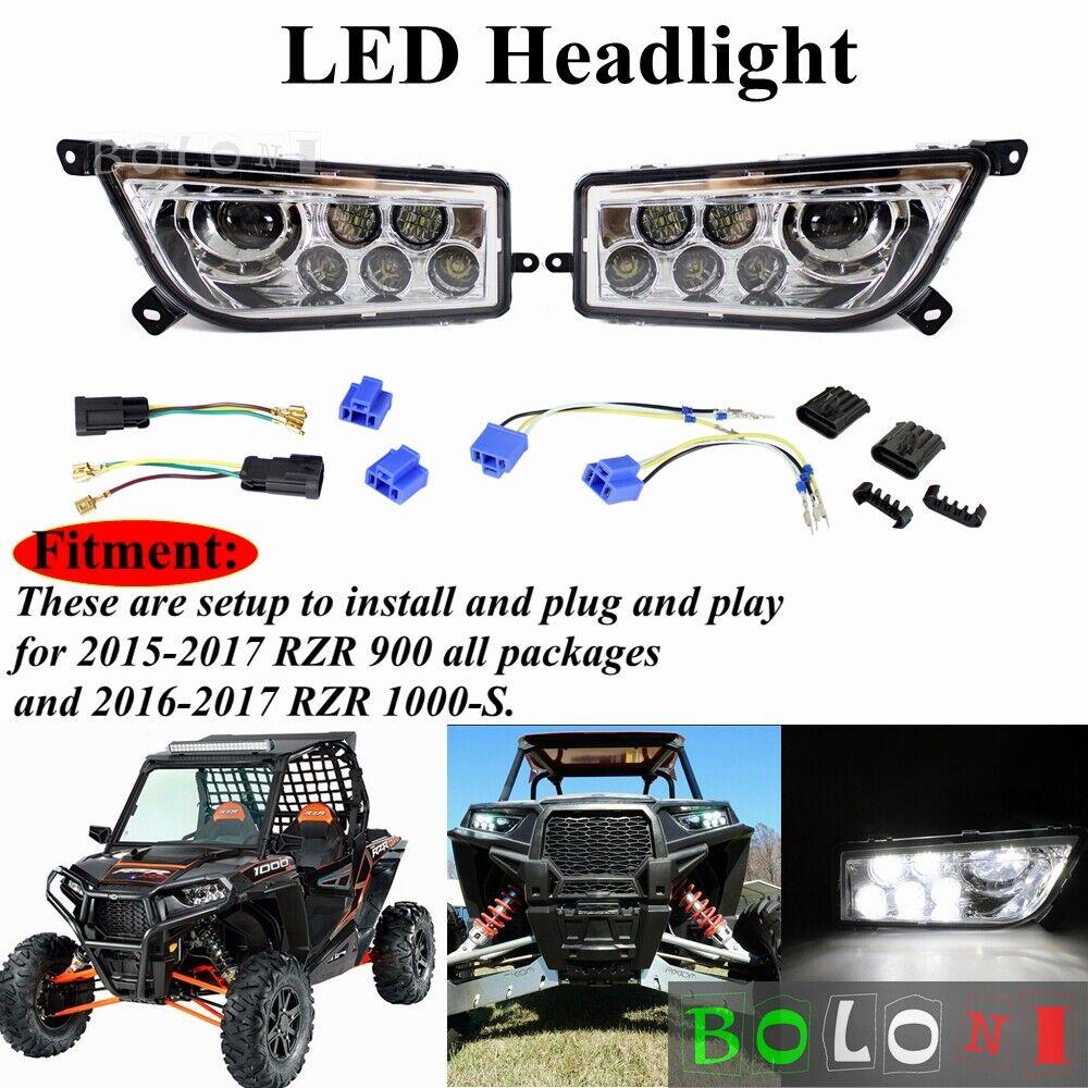 For Polaris 16-18 RZR-4 XP 1000 accessory Two Turbo Door LED Light Bar+Fog light
