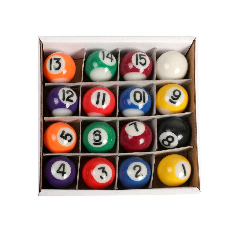 "16pc Mini Billiard Pool Balls 1"" Complete Resin Table Ball Set Children Toy Gift"