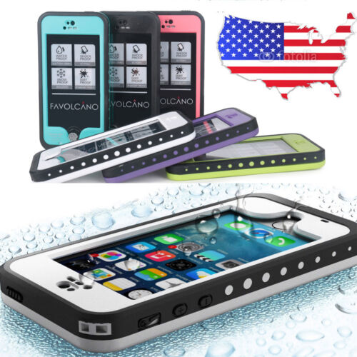 FAVOLCANO WATERPROOF SHOCKPROOF DIRTPROOF CASE FOR APPLE IPHONE 6 6S PLUS 5C 5S