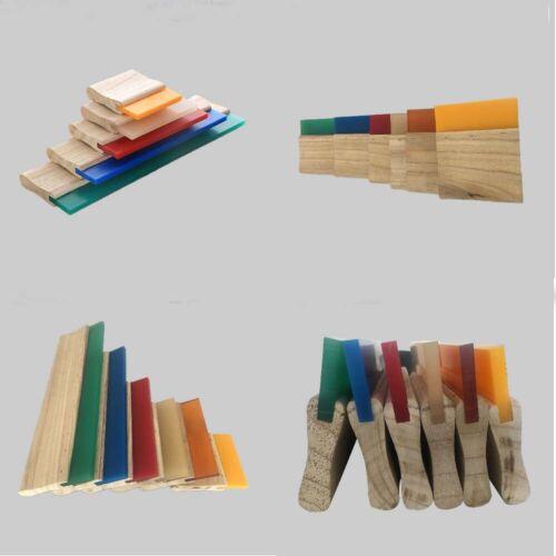 "13"" - 75 duro screen printing wood handle squeegee blade - 4pcs"
