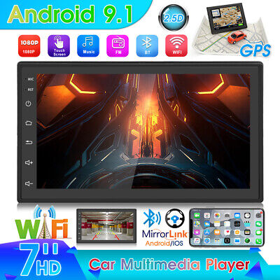 Android 9.1 Radio de coche GPS Navi Sat WiFi BLUETOOTH DOBLE 2DIN...
