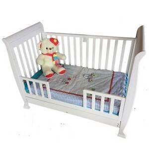 NEW WHITE SLEIGH BABY COT CRIB PACKAGE CHANGE TABLE MATTRESS Mandurah Mandurah Area Preview