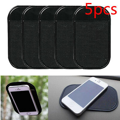 5 Pcs Car Silicone Gel Magic Sticky Pad Anti Slip Non Slip Mat Mobile Cell Phone