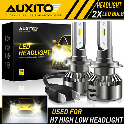 2X AUXITO H7 LED Headlight Bulb Kit High Low Beam 6500K Super White 20000LM EOA