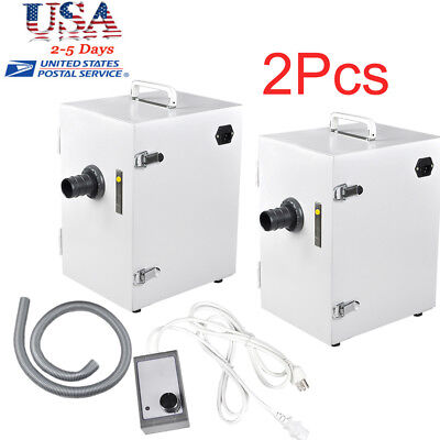 2pcs Dental Lab Equipment Digital Single-row Dust Collector Vacuum Cleaner