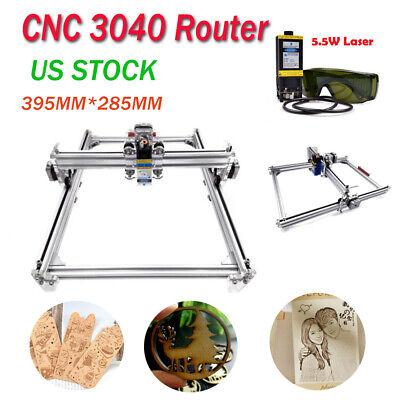 Cnc 3040 Router Kit 5.5w Laser Module Carving Engraving Diy Milling Machine