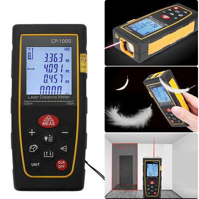 100m 328ft Digital Lcd Laser Distance Meter Range Finder Measure Tape Tool Fast