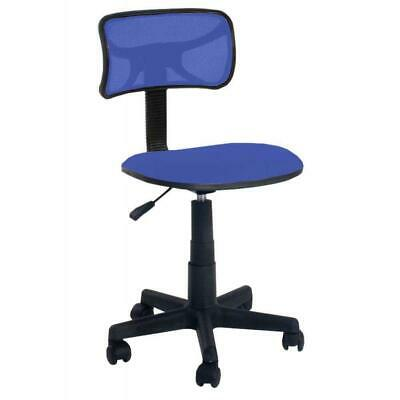 Office Chair Swivel Ergonomic Blue Plastic Mesh Kids Desk Computer Study Room