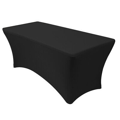 4/6/8' ft Spandex Stretch Fitted Tablecloth Table Cover Wedding Party Banquet