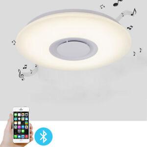 Light Fixtures Ceiling Flush Mount With Speaker Color Changing Kids Bedroom  Lamp