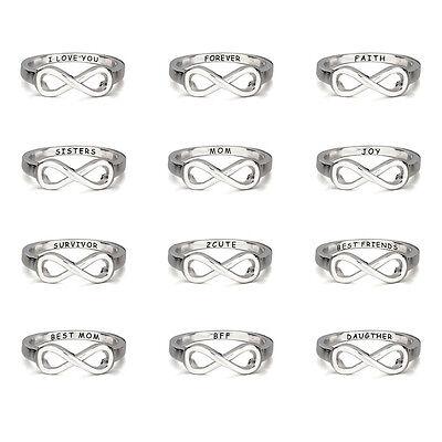 Women Custom Ring Infinity Promise Ring Couple Sisters Best Friends Rings