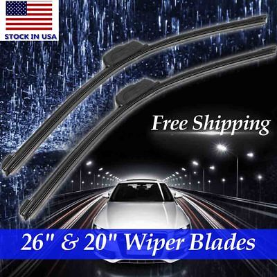 26  20 ALL SEASON OEM Quality Beam Windshield Wiper Blades J HOOK Set of 2