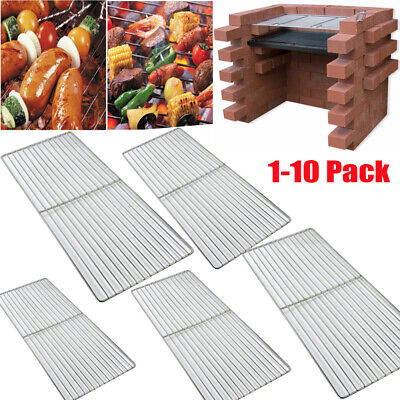 Metal BBQ Grill Grate Grid Iron Mesh Rack Sheet Grilled Net Steel Griddle Picnic