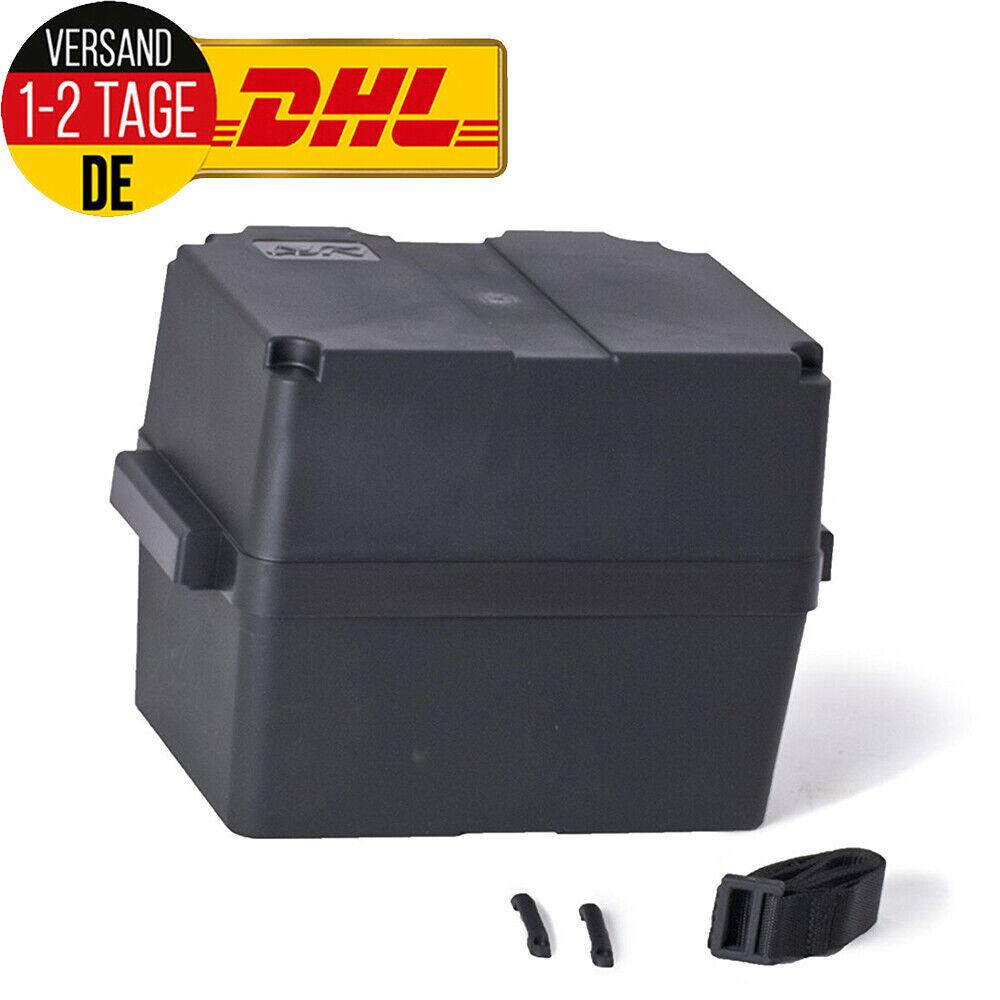 Batteriebox Bootsbatterien Batteriekasten für Batterien 80-120 Ah + Haltegurt 3G