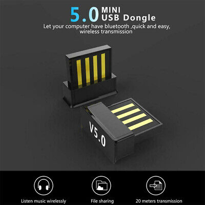2.4G Mini USB Bluetooth5.0 Wireless Dongle Adapter For Windows 7 8 10 PC Laptop