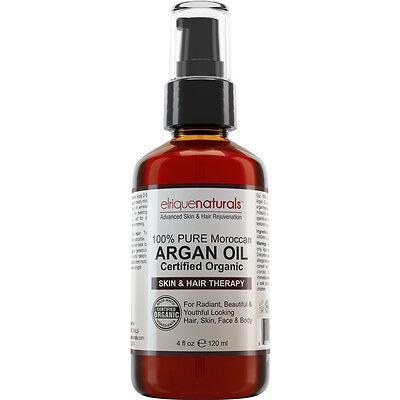 4oz PURE ARGAN OIL ORGANIC UNREFINED COLD PRESSED ARGON HAIR