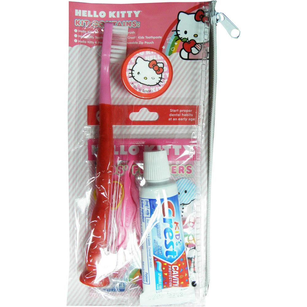 Hello Kitty Zahnbürste Reise Zahnpflege Set für Kinder NEU TOP Zahnpasta