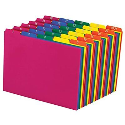 Pendaflex 40143 Top Tab File Guides Daily1-31 15 Tab Polypropylene Letter