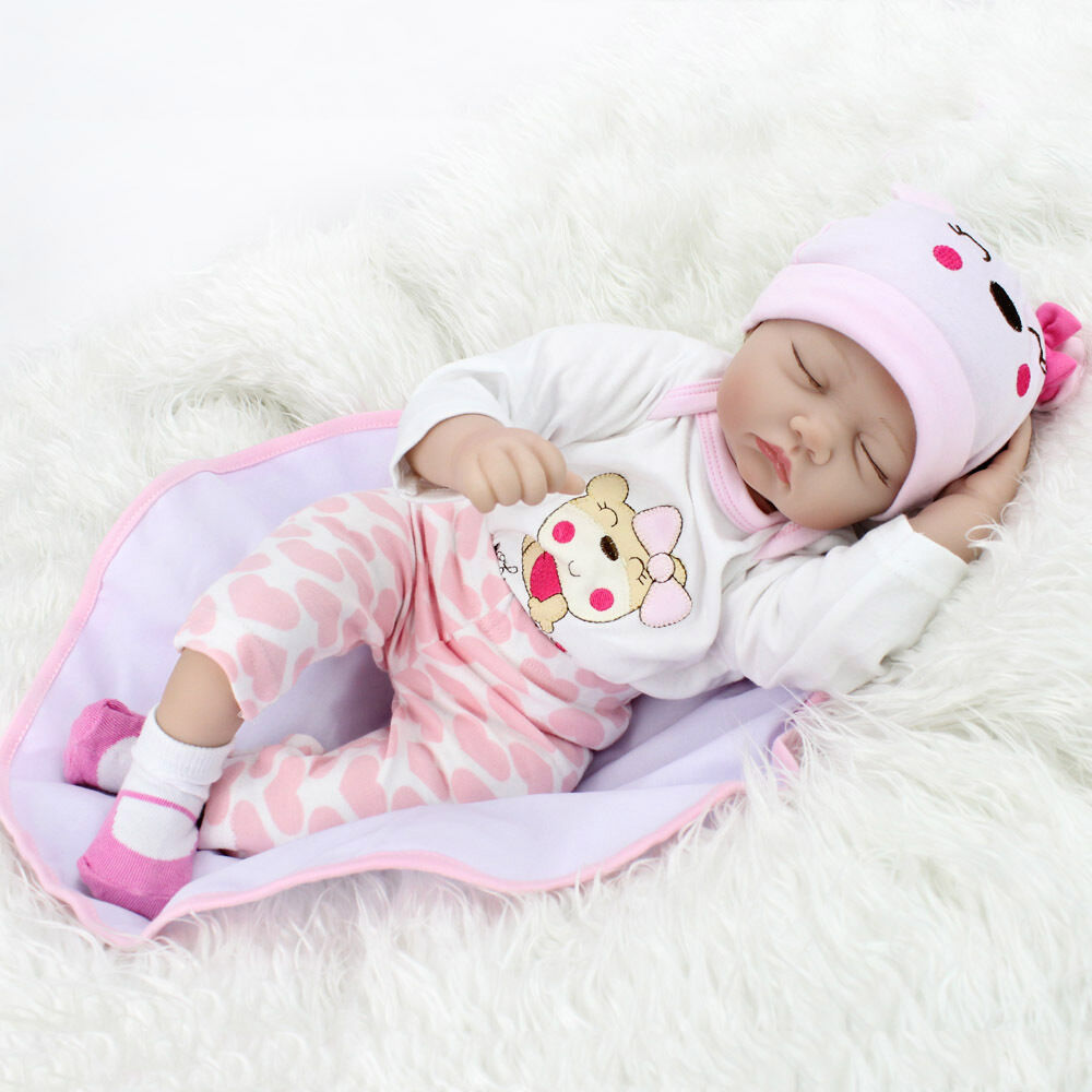 Realistic Lifelike Newborn Sleeping Baby Girl Doll Floppy