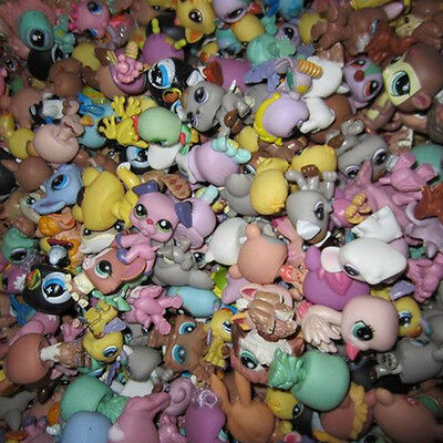 Lot Of 10 PCS Random Littlest Pet Shop Cute Cat Dog Bird Animal Figures Toy Girl