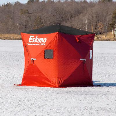NEW Eskimo QuickFish 3i INSULATED Man Ice Shelter Fishing Portable Tent Shack  - Man Ice Shelter