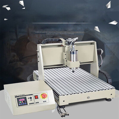 Ac220v 1.5kw Water-cooled Vfd Industry Usb Cnc 6040t Router Frame Machine 4 Axis