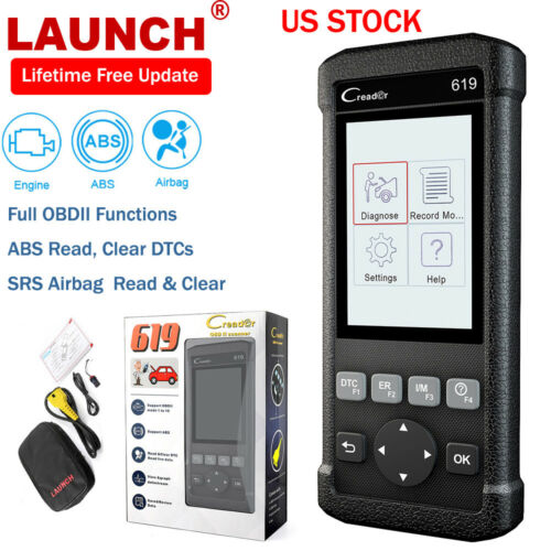 LAUNCH Creader 619 Auto Car OBD2 Code Reader ABS SRS Airbag