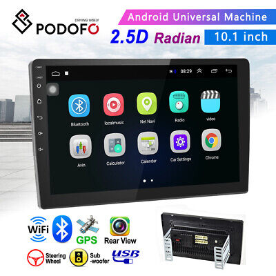 10.1'' Android 8.1 2 Din GPS Navi Car Stereo Radio 2.5D Screen Bluetooth WIFI FM