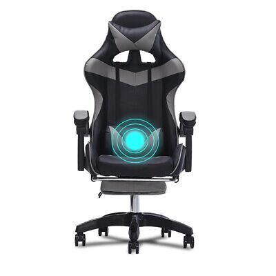 Gaming Chair Wfootrest Racing Computer High Back Ergonomic Office Desk Swivel