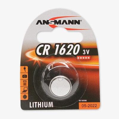1x ANSMANN CR1620 Lithium coin cell/Button cell (3V) DL1620, 5020072