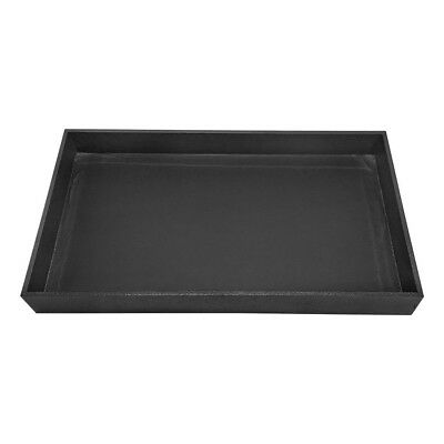 Jewelry Earrings Necklaces Black Velvet Plastic Tray Showcase 12 Inch Height