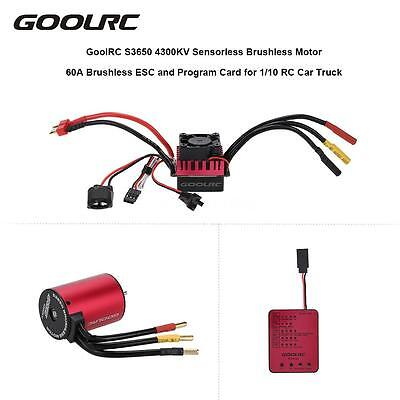 Goolrc S3650 4300Kv Motor 60A Brushless Esc And Program Card Combo Set Hot H8l2