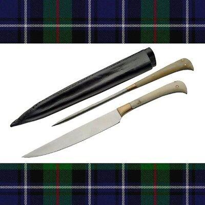 2 piece medieval scottish steak knife