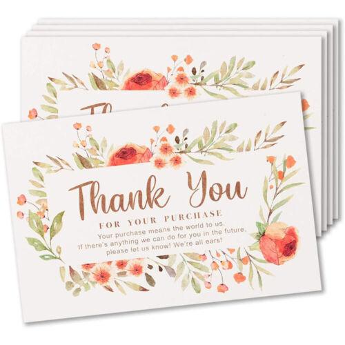 50 Pack Thank You Cards Large Size For eBay Amazon Poshmark Mercari Etsy Sellers