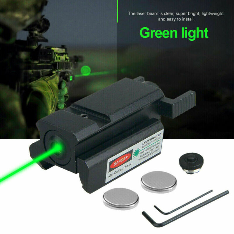 Tactical Low Profile Green Dot Laser Sight 20mm Picatinny Rail For Rifle Handgun