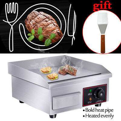 14 Top Commercial Electric Countertop Grill Heating Flat Griddle Bbq 1500w 110v
