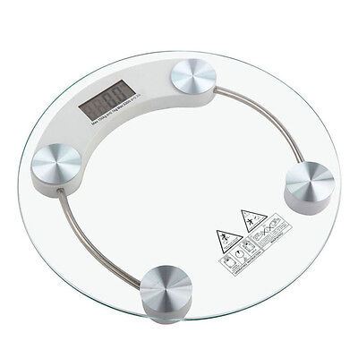 180KG/400lb Digital LCD Glass Scale Body Weight Watchers High Precision