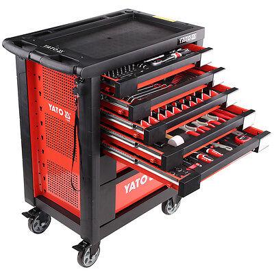 YATO Werkzeugwagen hochwertiges 211tlg Werkzeug Werkstattwagen Montage Neu 8824