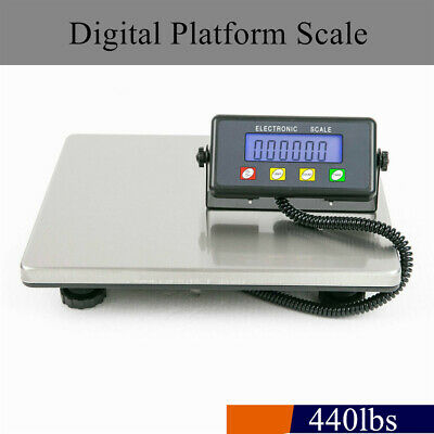 400lb200kg Weight Computing Digital Scale Non-slip Platform Shipping Postal